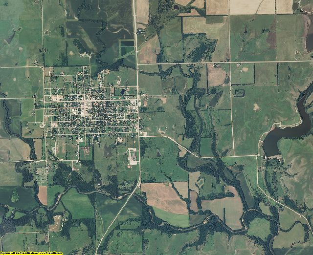 Elk County, Kansas aerial photography