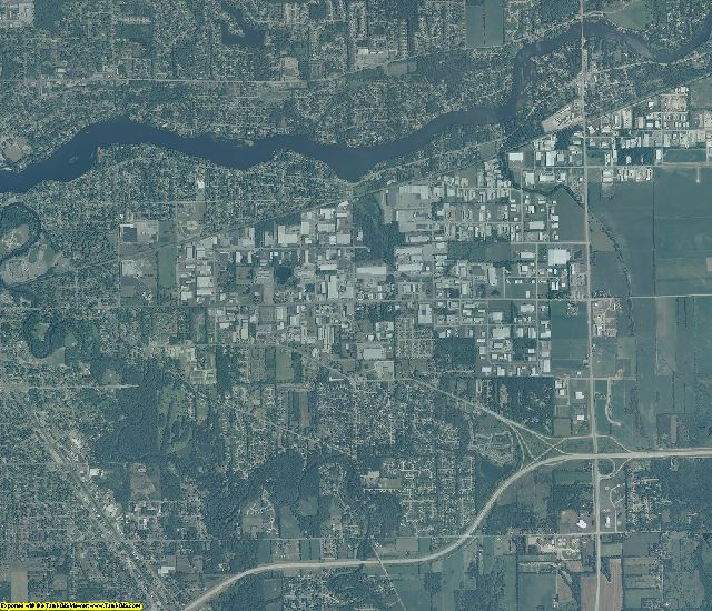 Elkhart County, Indiana aerial photography