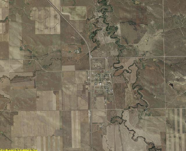 Fall River County, South Dakota aerial photography
