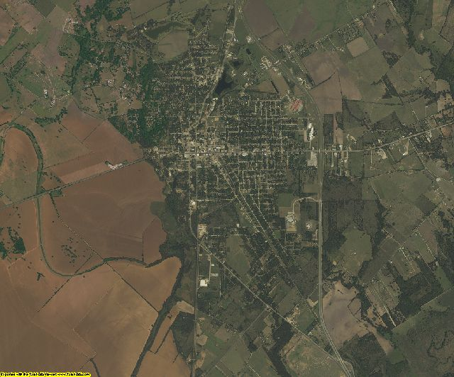 Falls County, Texas aerial photography