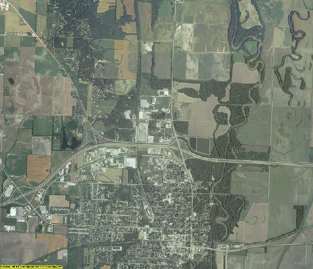 Fayette County, Illinois aerial photography