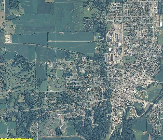 Fayette County, Indiana aerial photography