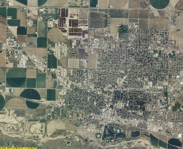 Finney County, Kansas aerial photography