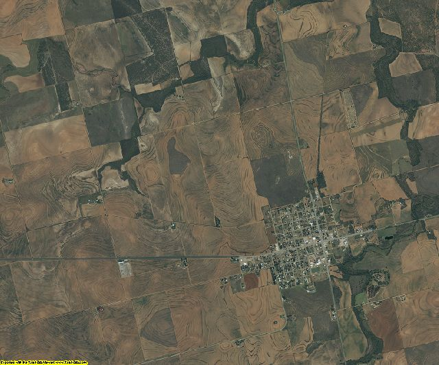 Fisher County, Texas aerial photography