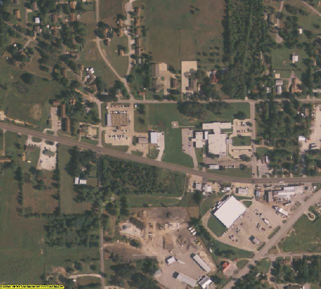 Freestone County, TX aerial photography detail