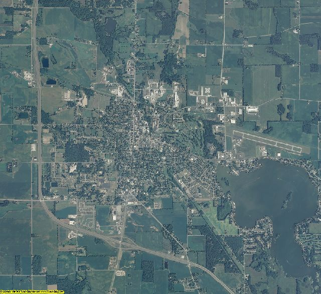 Fulton County, Indiana aerial photography