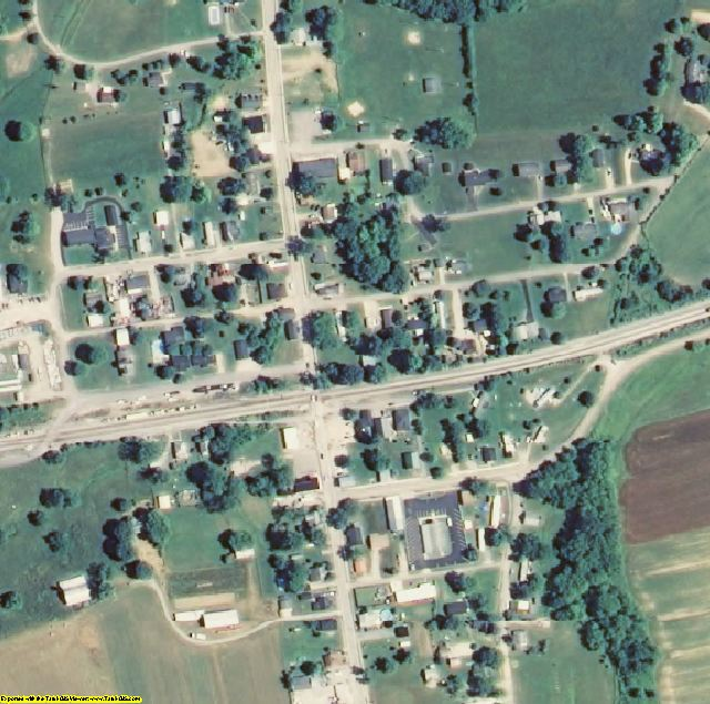 Gallatin County, KY aerial photography detail