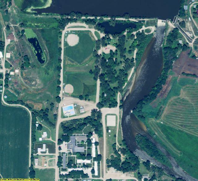 Garfield County, NE aerial photography detail