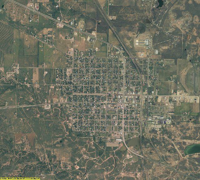 Garza County, Texas aerial photography