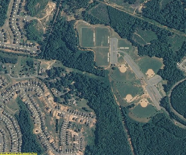 Gaston County, NC aerial photography detail