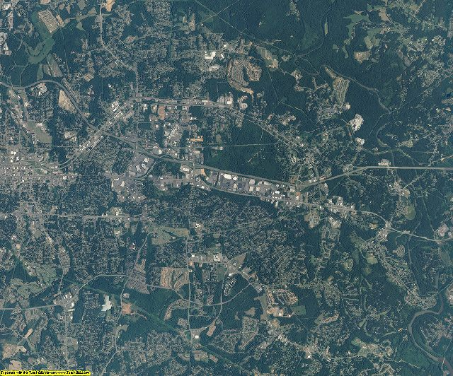 Gaston County, North Carolina aerial photography