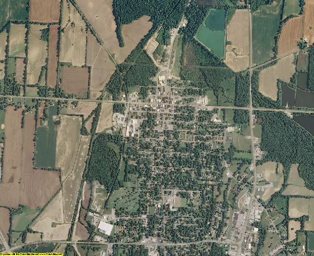 Gibson County, Tennessee aerial photography