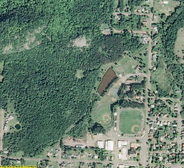 Gogebic County, MI aerial photography detail