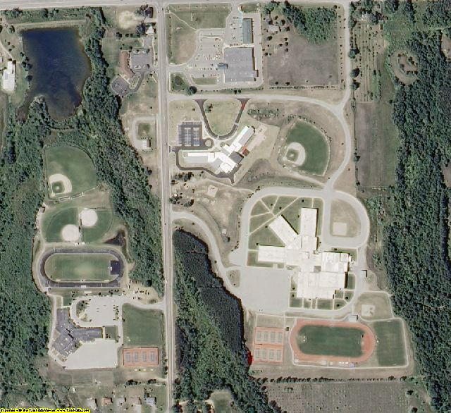 Grand Traverse County, MI aerial photography detail