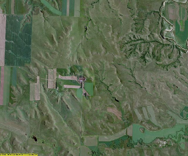 Grant County, North Dakota aerial photography
