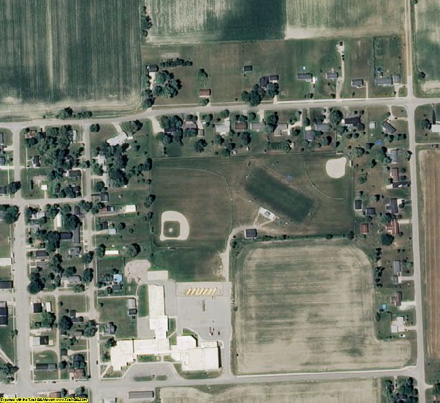 Gratiot County, MI aerial photography detail