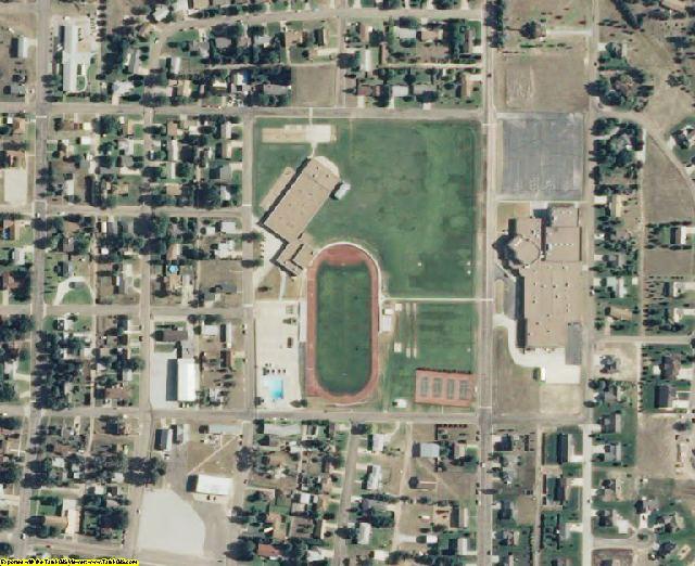 Gray County, KS aerial photography detail