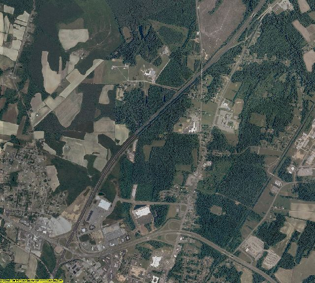 Greensville County, Virginia aerial photography
