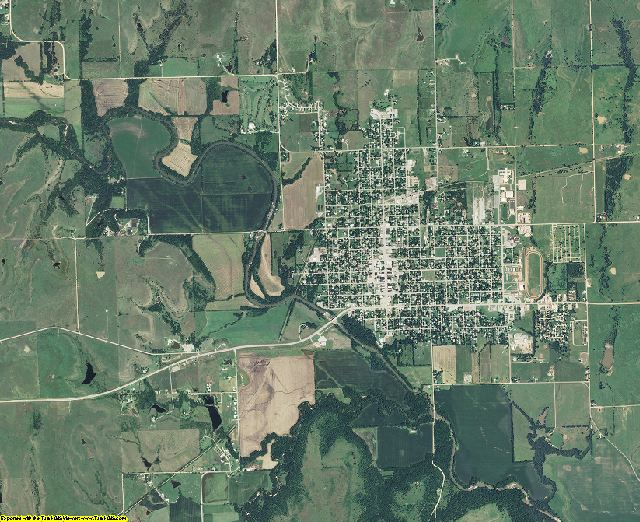 Greenwood County, Kansas aerial photography