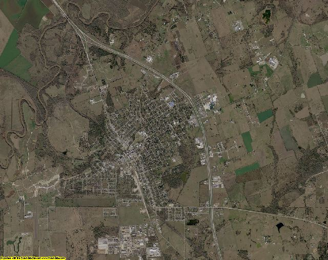 Grimes County, Texas aerial photography