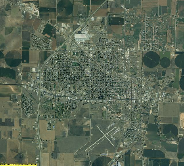 Hale County, Texas aerial photography