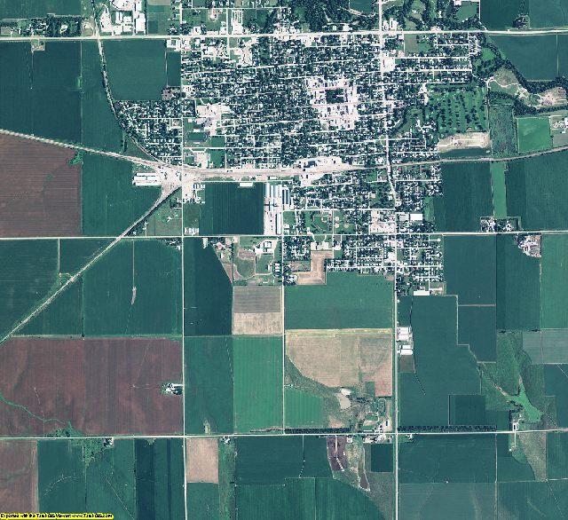Hamilton County, Nebraska aerial photography