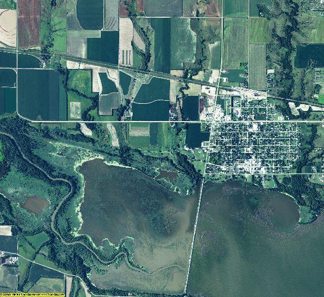 Harlan County, Nebraska aerial photography