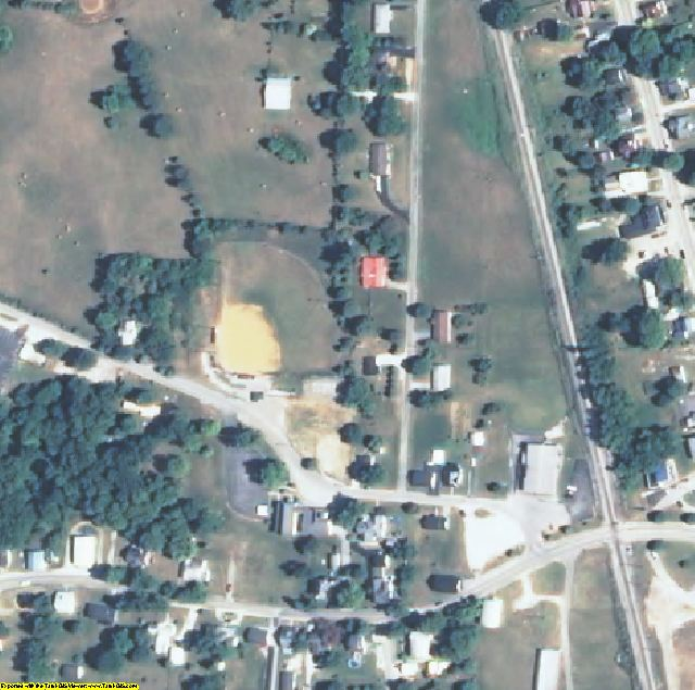 Hart County, KY aerial photography detail