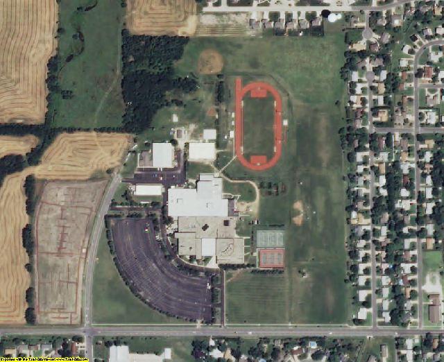 Harvey County, KS aerial photography detail