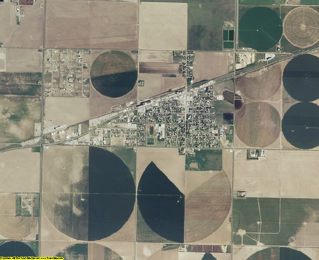 Haskell County, Kansas aerial photography