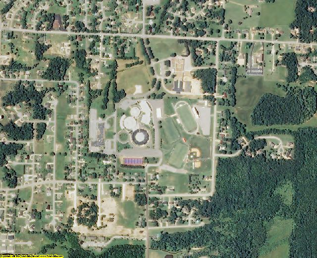 Henry County, TN aerial photography detail