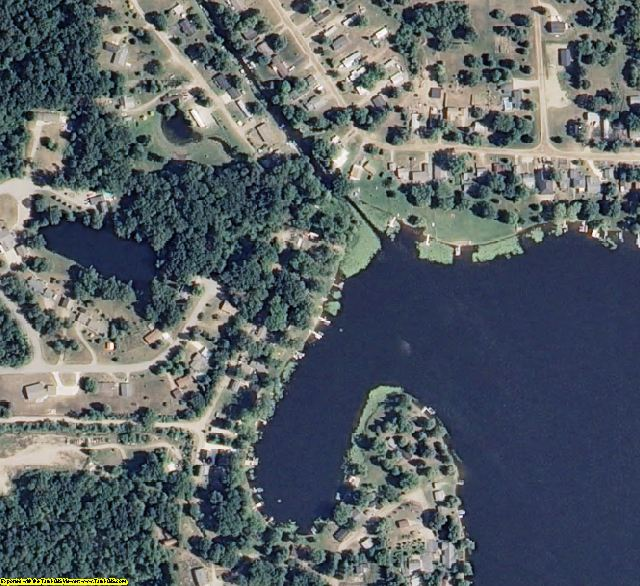 Hillsdale County, MI aerial photography detail
