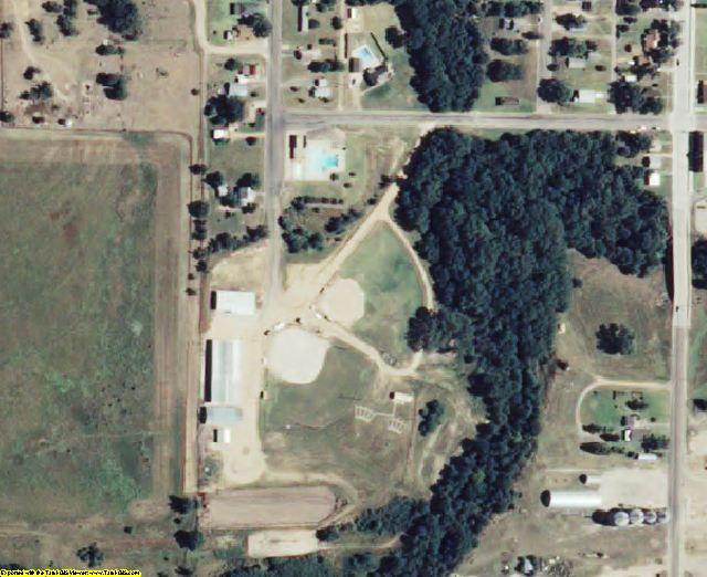 Hodgeman County, KS aerial photography detail