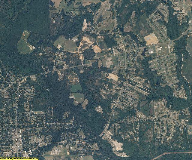 Hoke County, North Carolina aerial photography