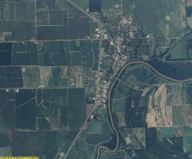 Humphreys County, Mississippi aerial photography