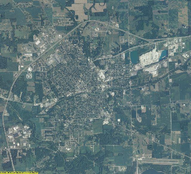 Huntington County, Indiana aerial photography