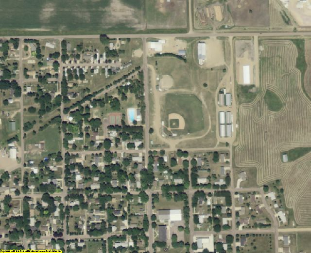 Hutchinson County, SD aerial photography detail