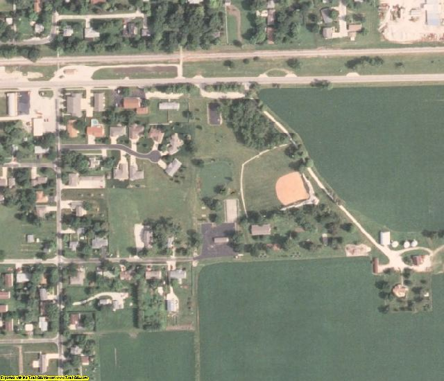 Iroquois County, IL aerial photography detail