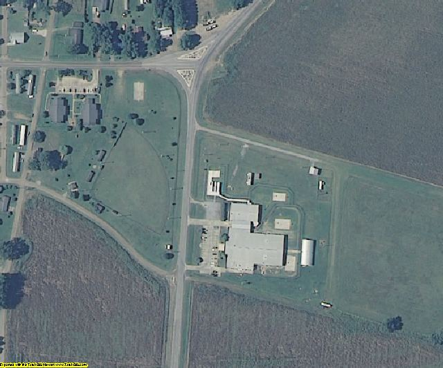Issaquena County, MS aerial photography detail