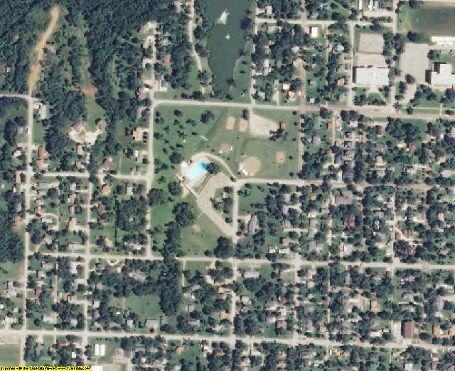 Jackson County, KS aerial photography detail