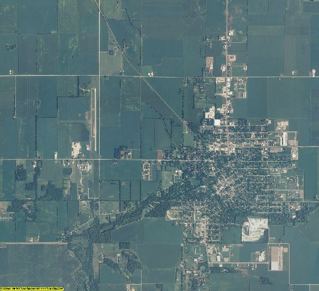 Jasper County, Indiana aerial photography