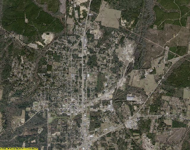 Jasper County, Texas aerial photography