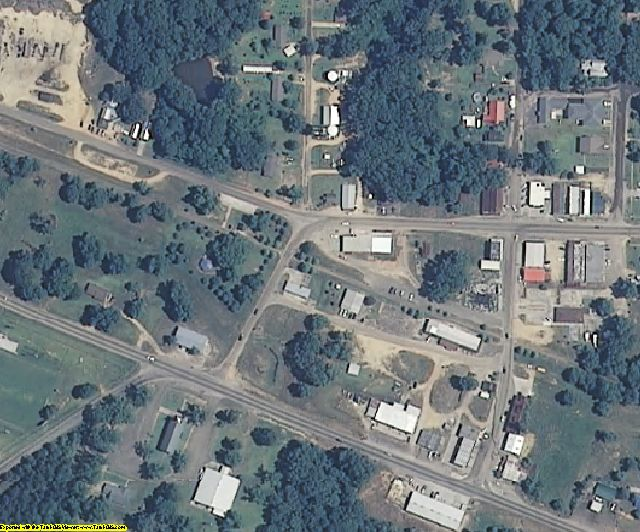 Jefferson Davis County, MS aerial photography detail