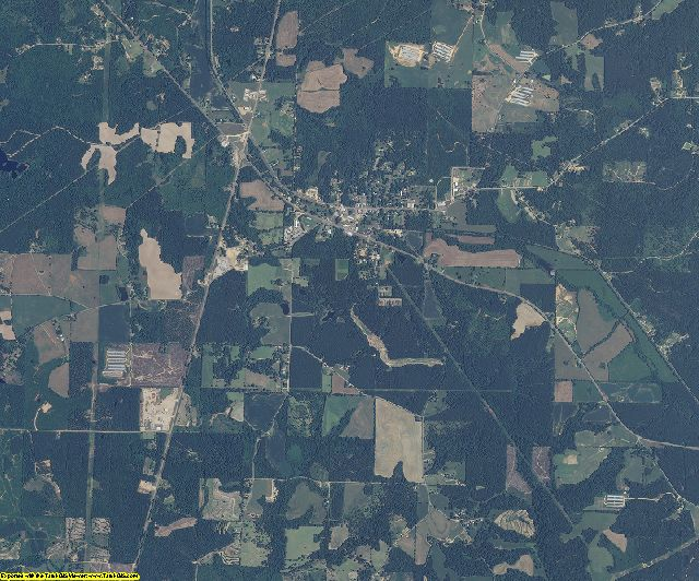 Jefferson Davis County, Mississippi aerial photography