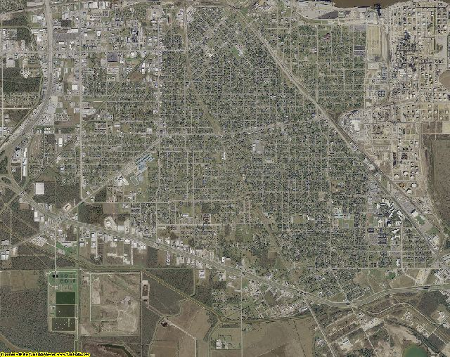 Jefferson County, Texas aerial photography