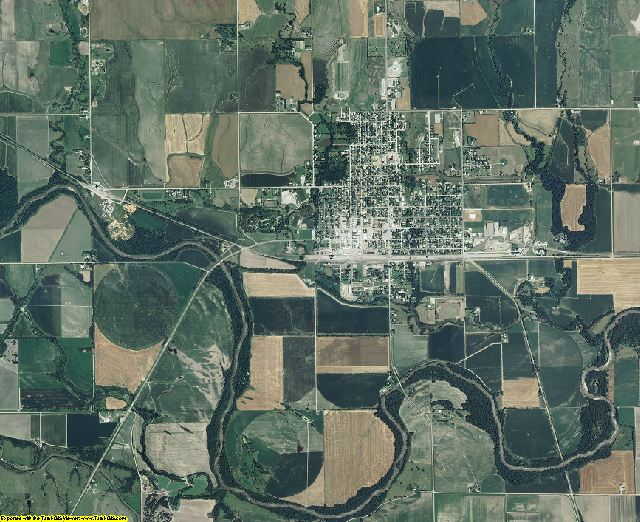 Jewell County, Kansas aerial photography