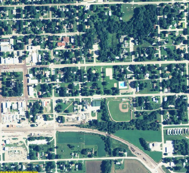 Johnson County, NE aerial photography detail