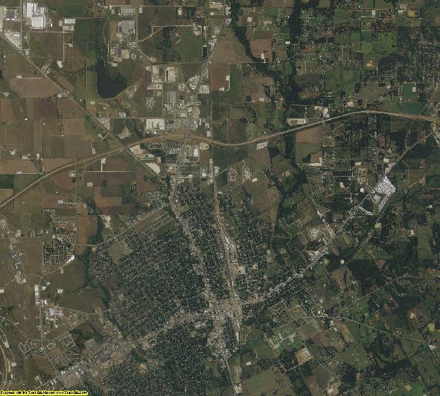 Johnson County, Texas aerial photography