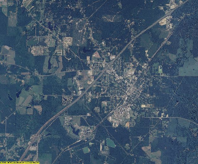 Jones County, Mississippi aerial photography