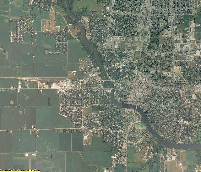Kankakee County, Illinois aerial photography